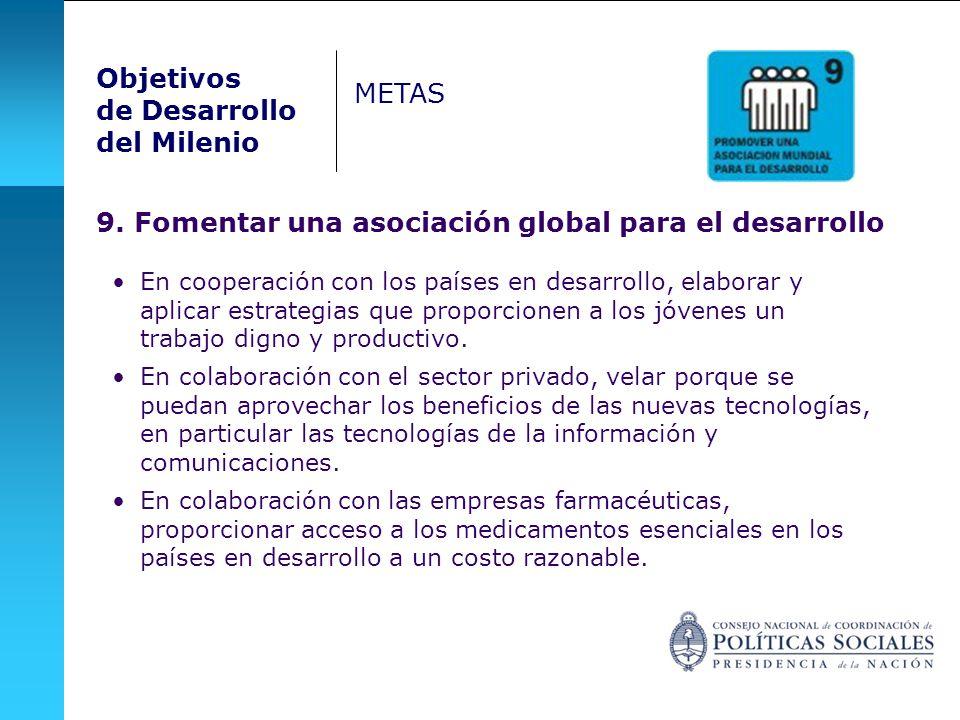 9. Fomentar una asociación global para el desarrollo