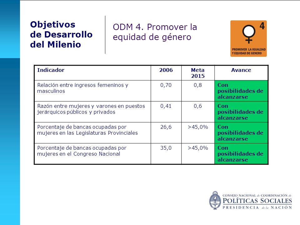 ODM 4. Promover la equidad de género