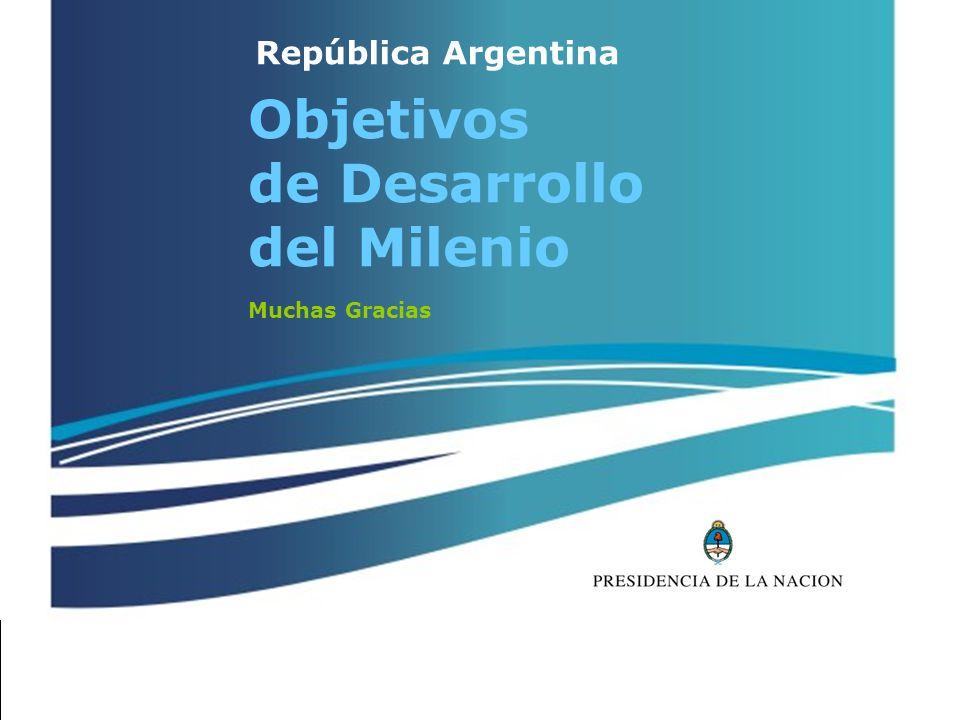 República Argentina Objetivos de Desarrollo del Milenio Muchas Gracias