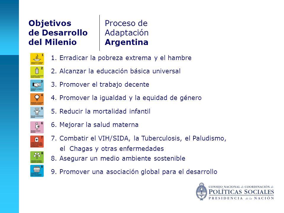 Objetivos de Desarrollo del Milenio Proceso de Adaptación Argentina