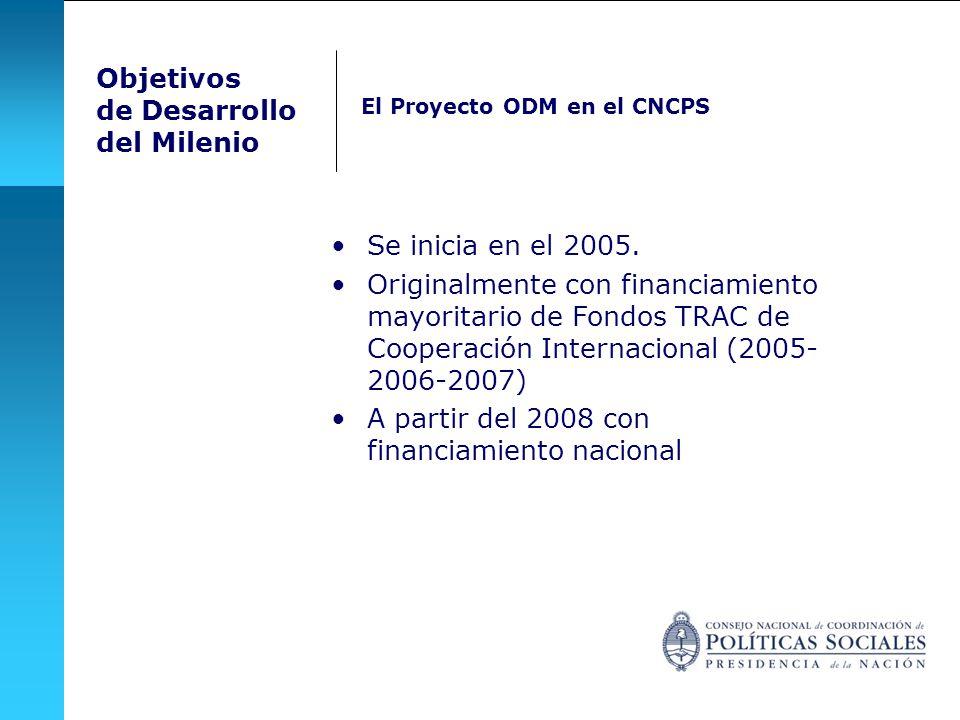 A partir del 2008 con financiamiento nacional