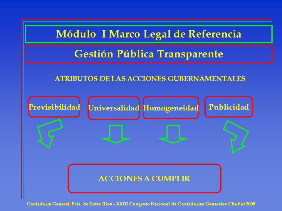 Módulo I Marco Legal de Referencia Gestión Pública Transparente