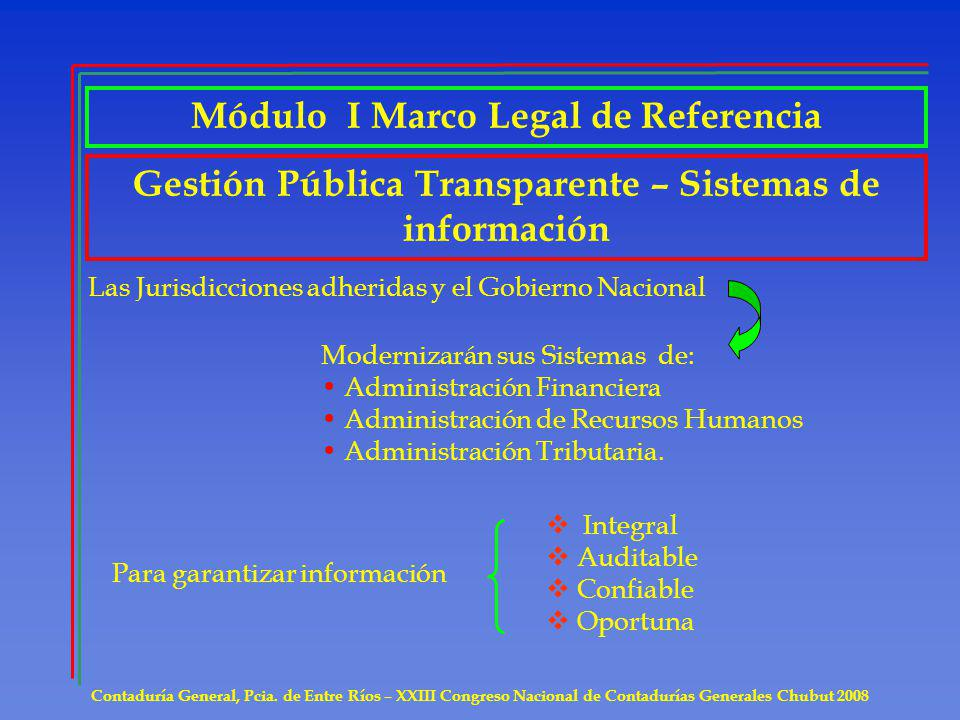Módulo I Marco Legal de Referencia