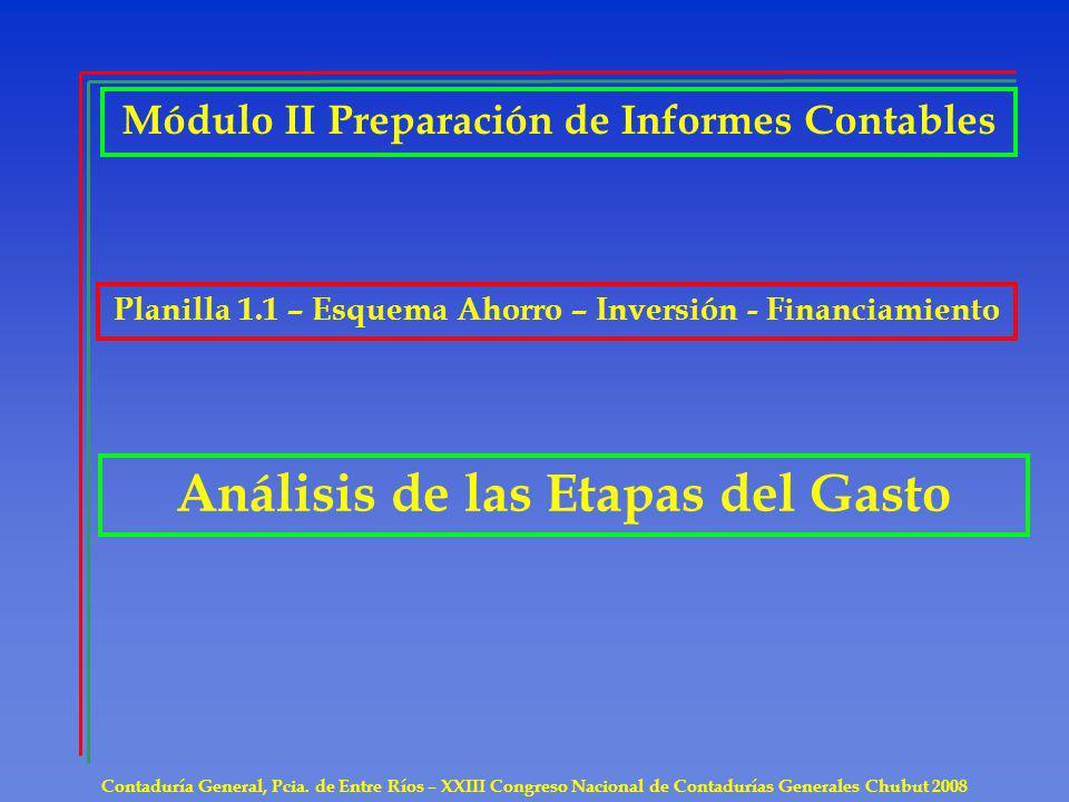 Análisis de las Etapas del Gasto