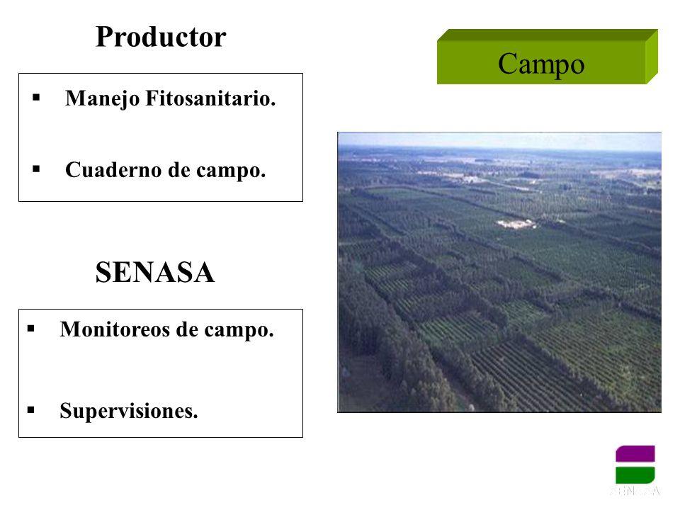 Productor Campo SENASA Manejo Fitosanitario. Cuaderno de campo.