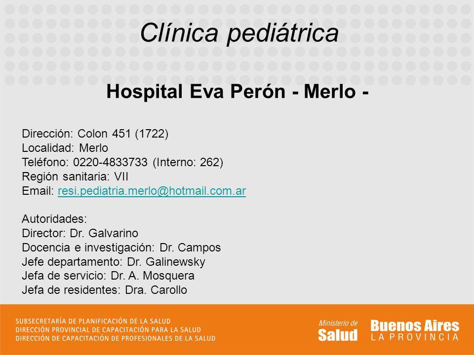 Hospital Eva Perón - Merlo -