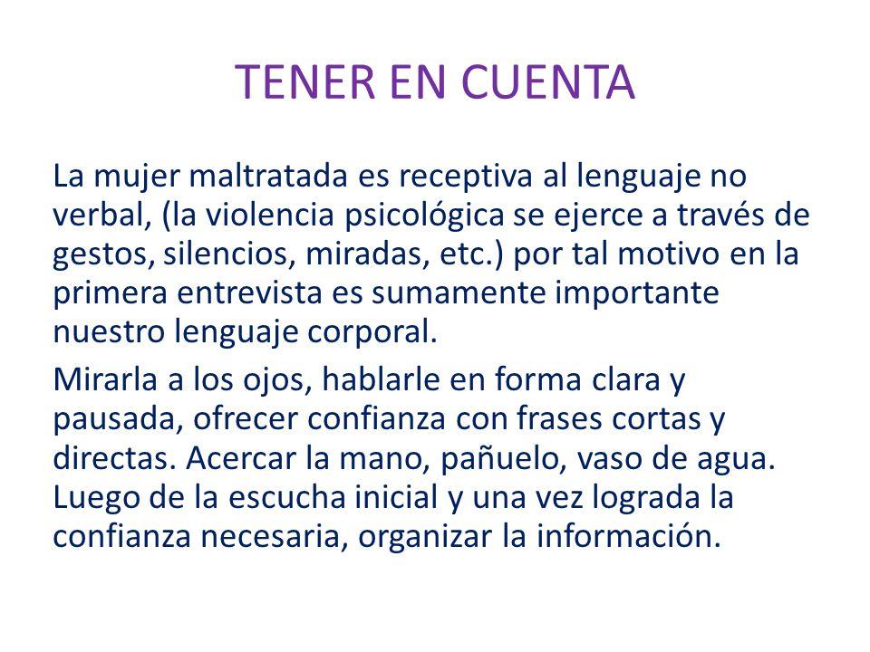 TENER EN CUENTA