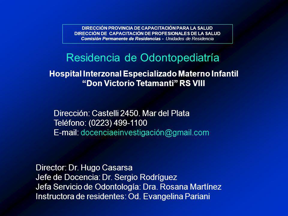 Residencia de Odontopediatría