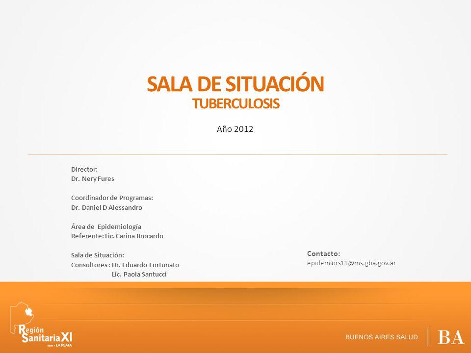 SALA DE SITUACIÓN TUBERCULOSIS Año 2012 Contacto: Director: