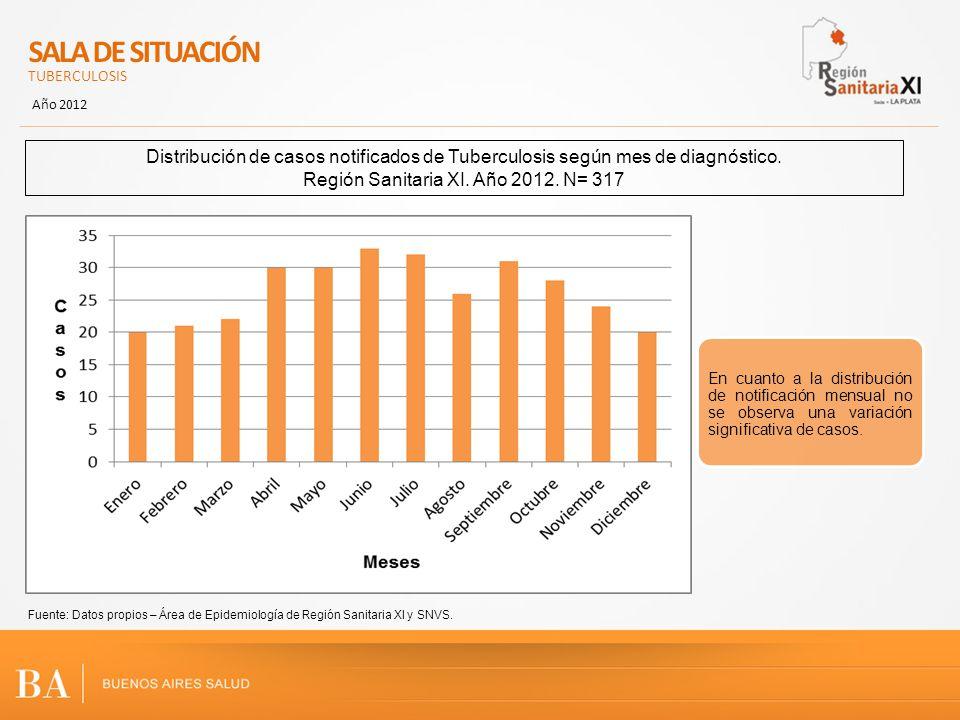 Región Sanitaria XI. Año 2012. N= 317