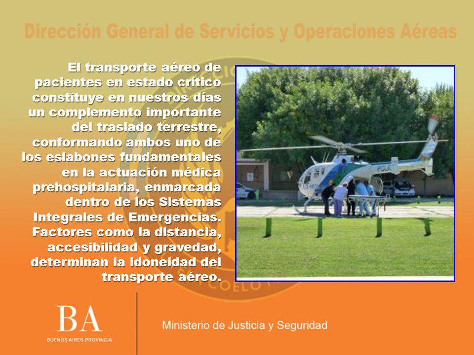 El transporte aéreo de pacientes en estado crítico constituye en nuestros días.