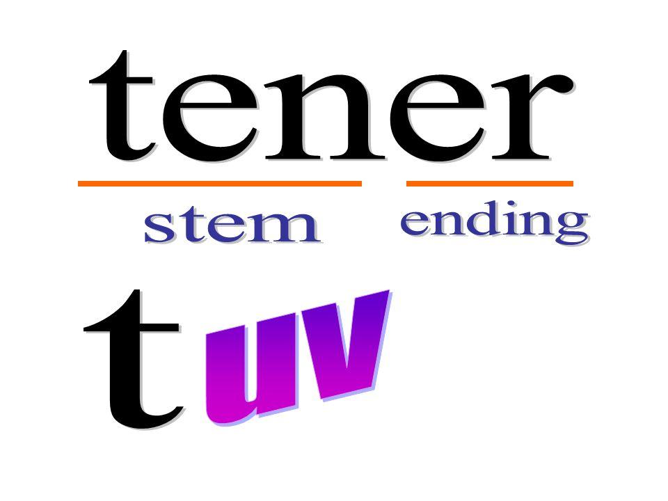 tener ending stem t uv