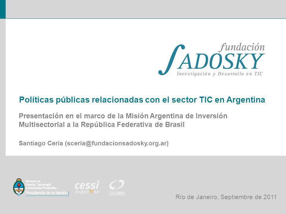 Políticas públicas relacionadas con el sector TIC en Argentina