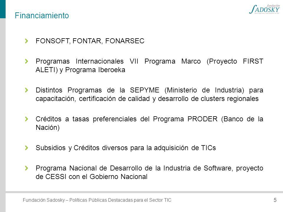 Financiamiento FONSOFT, FONTAR, FONARSEC