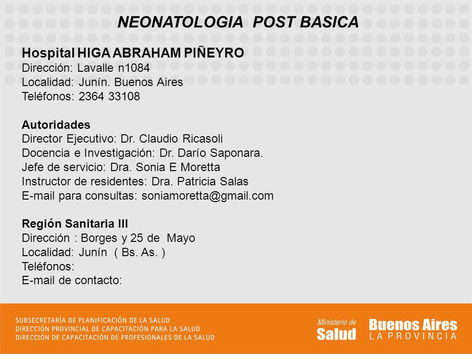 NEONATOLOGIA POST BASICA