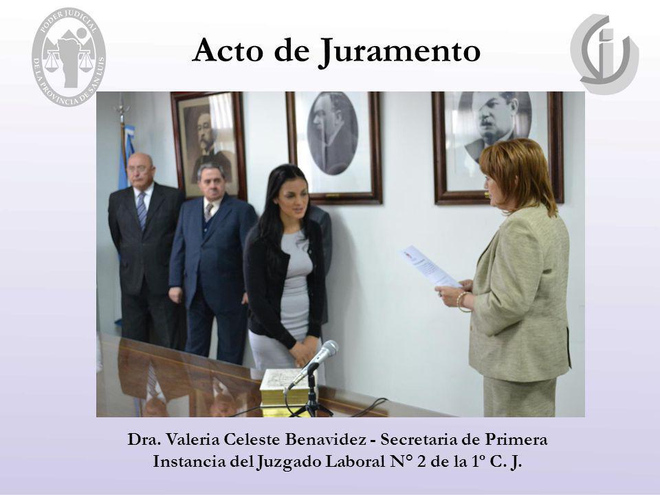 Acto de Juramento Dra.