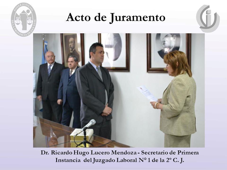 Acto de Juramento Dr.