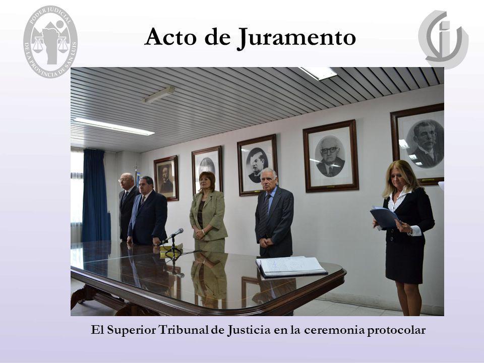 El Superior Tribunal de Justicia en la ceremonia protocolar
