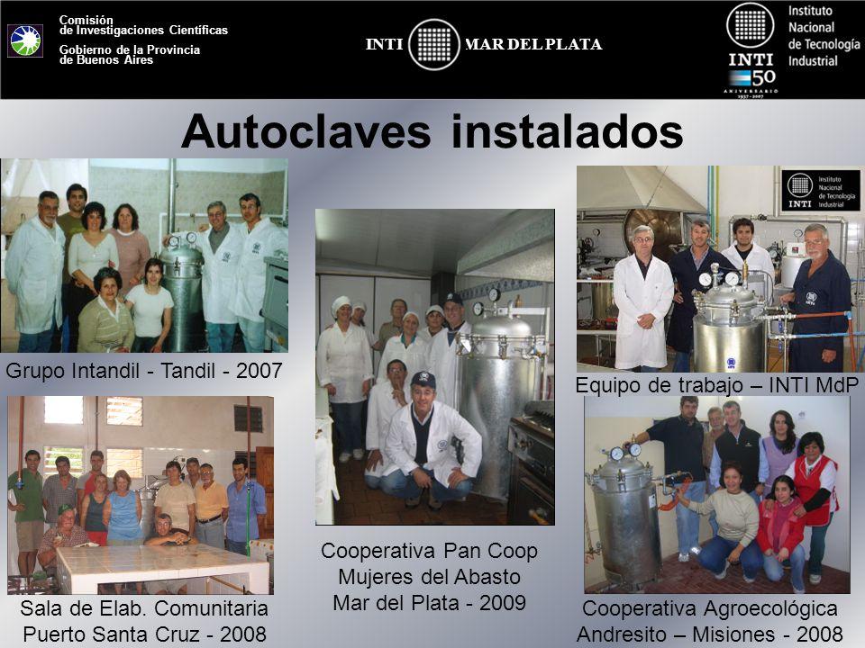 Autoclaves instalados