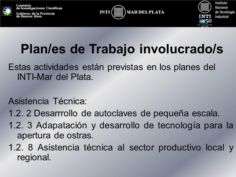 Plan/es de Trabajo involucrado/s