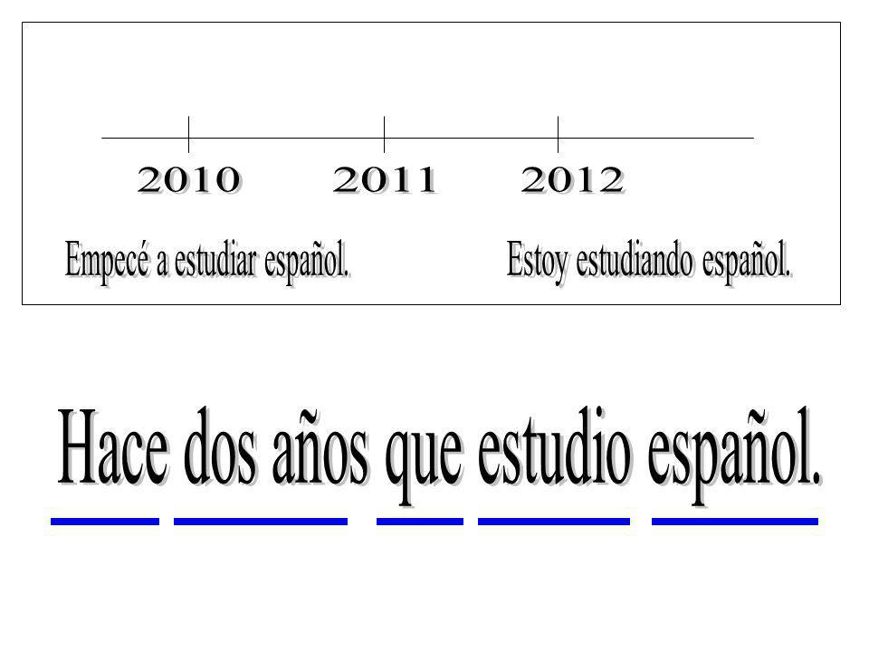 Empecé a estudiar español. Estoy estudiando español.