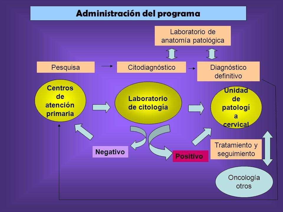 Administración del programa