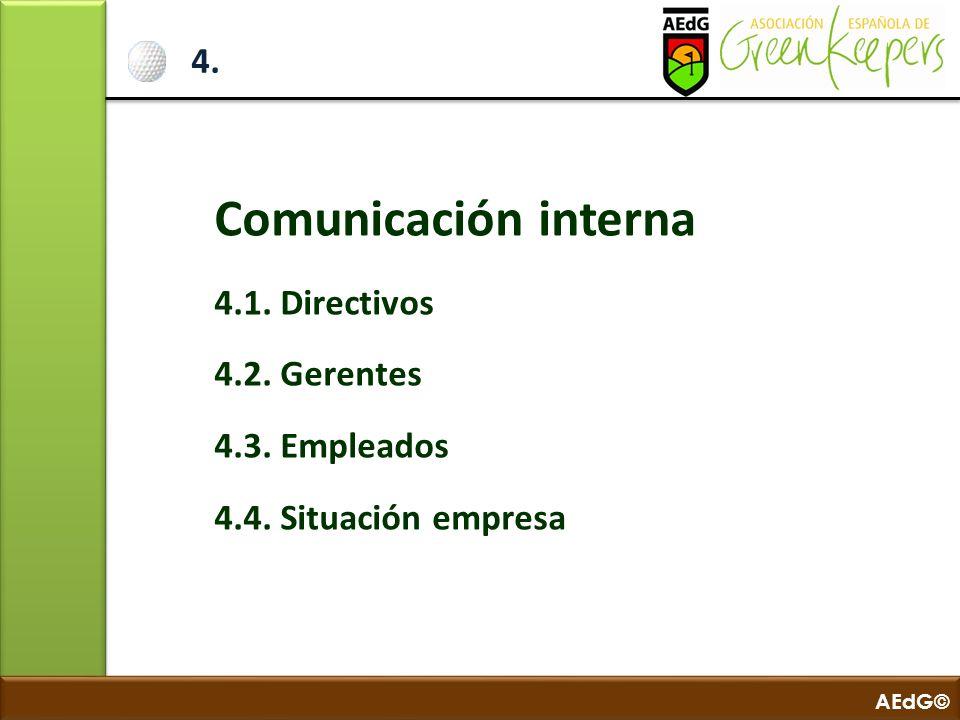 Comunicación interna 4. 4.1. Directivos 4.2. Gerentes 4.3. Empleados