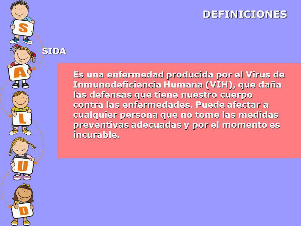 DEFINICIONES SIDA.