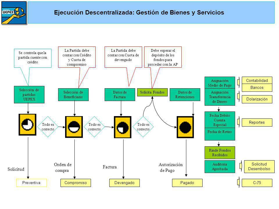 Ejecución Descentralizada: Gestión de Bienes y Servicios