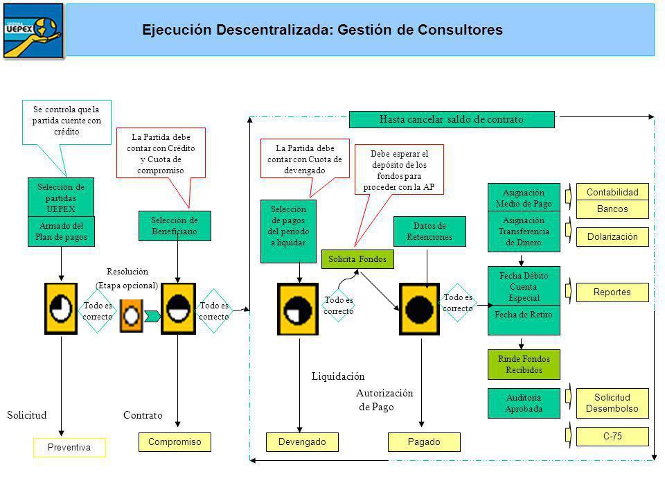 Ejecución Descentralizada: Gestión de Consultores