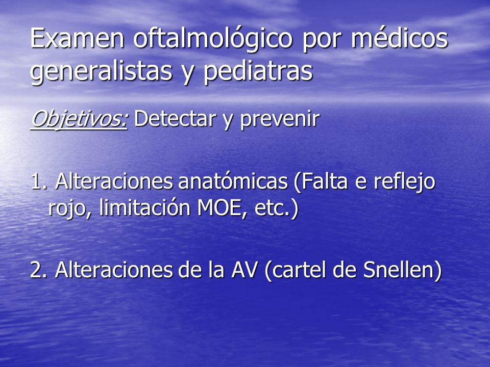 Examen oftalmológico por médicos generalistas y pediatras