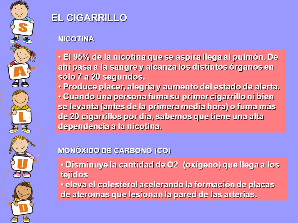 EL CIGARRILLO NICOTINA.