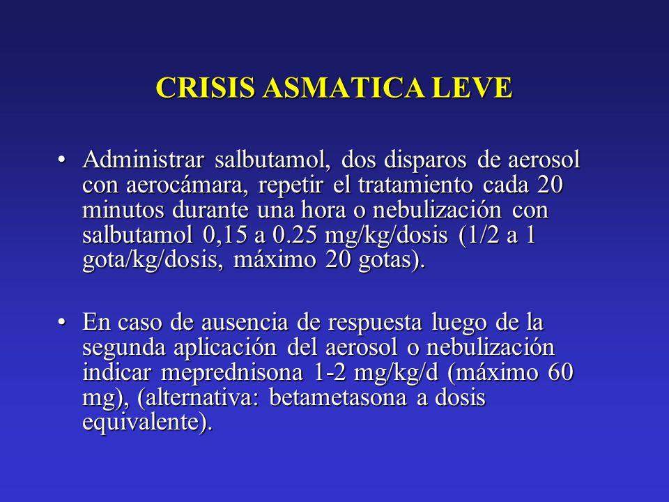 CRISIS ASMATICA LEVE