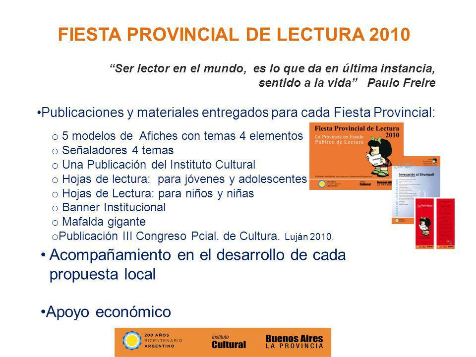 FIESTA PROVINCIAL DE LECTURA 2010