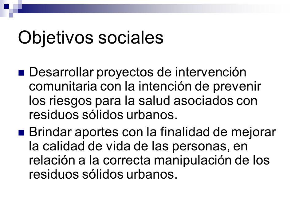 Objetivos sociales