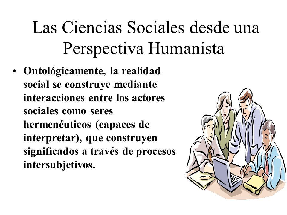 Las Ciencias Sociales desde una Perspectiva Humanista