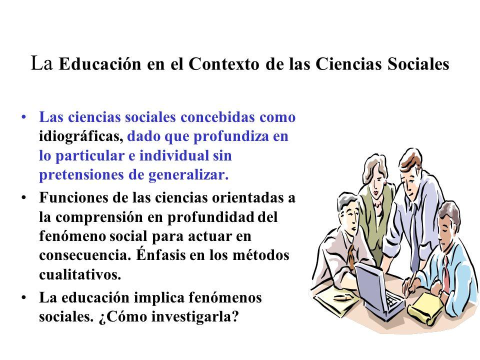 La Educación en el Contexto de las Ciencias Sociales