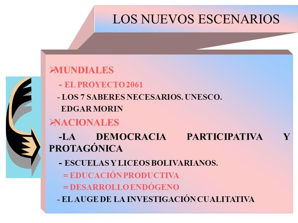 LOS NUEVOS ESCENARIOS MUNDIALES - EL PROYECTO 2061 NACIONALES