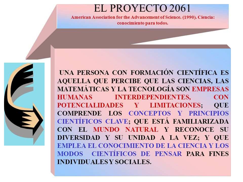 EL PROYECTO 2061 American Association for the Advancement of Science