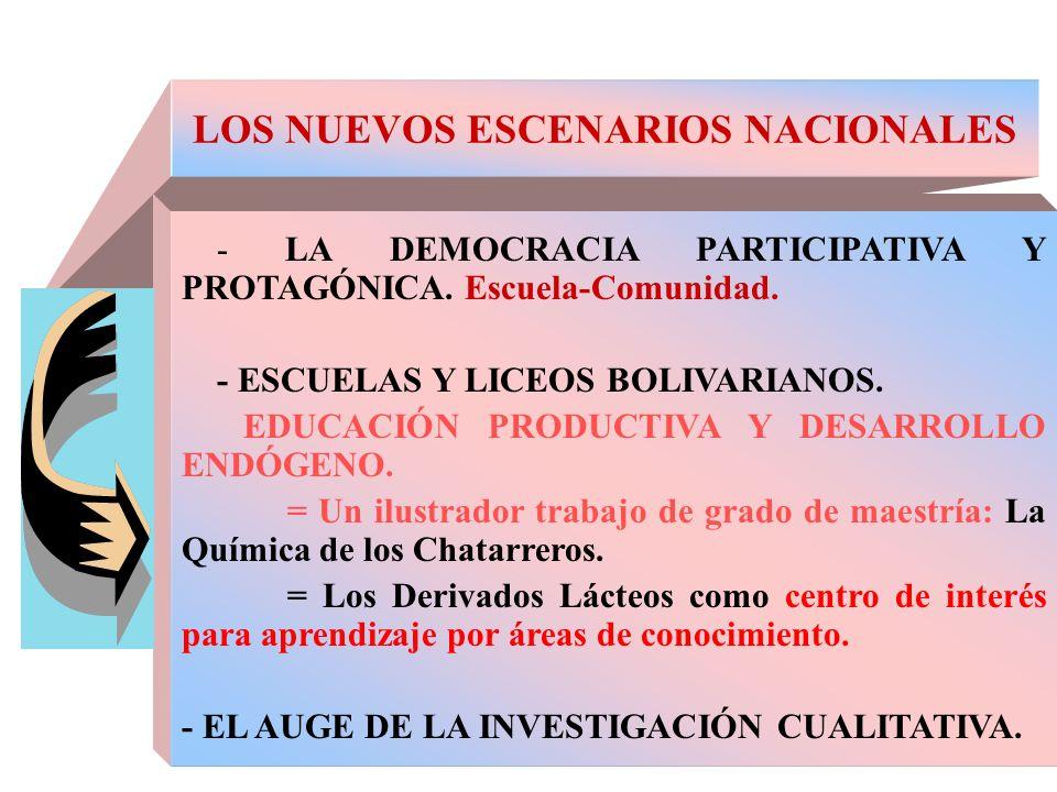 LOS NUEVOS ESCENARIOS NACIONALES