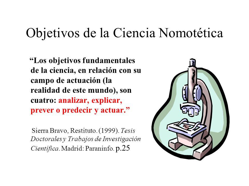 Objetivos de la Ciencia Nomotética