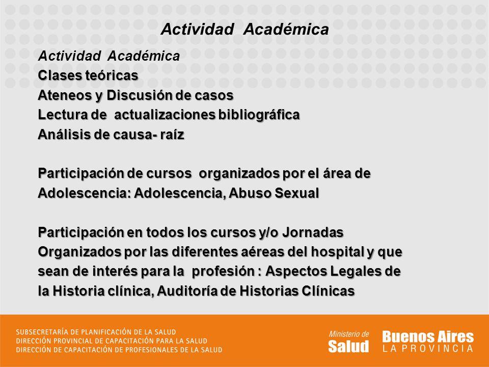 Actividad Académica Actividad Académica Clases teóricas