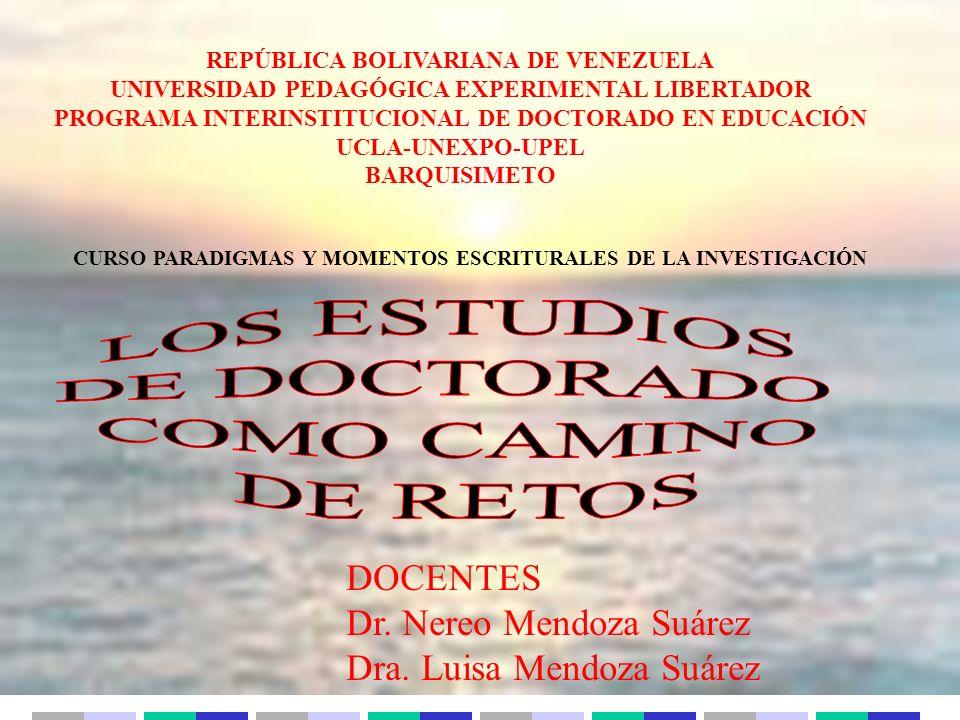 Dr. Nereo Mendoza Suárez Dra. Luisa Mendoza Suárez