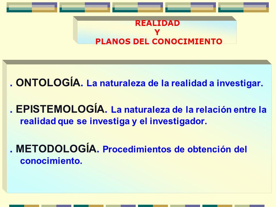 REALIDAD Y PLANOS DEL CONOCIMIENTO