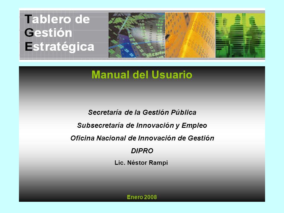 Manual del Usuario Secretaría de la Gestión Pública