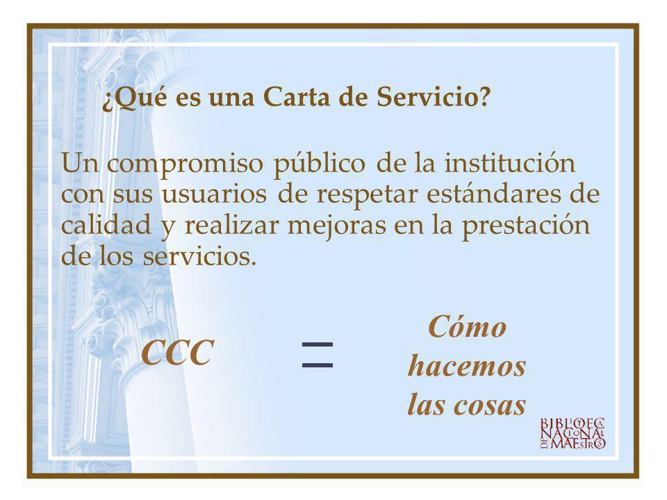 ¿Qué es una Carta de Servicio