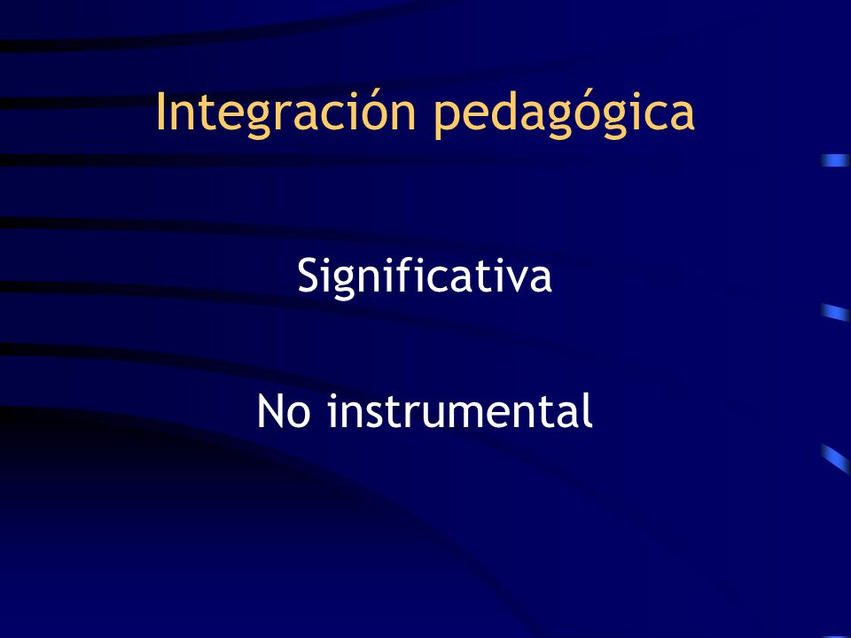 Integración pedagógica