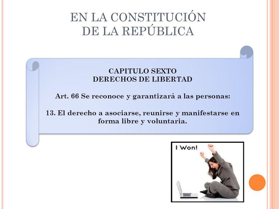 EN LA CONSTITUCIÓN DE LA REPÚBLICA