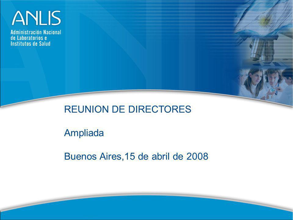 REUNION DE DIRECTORES Ampliada Buenos Aires,15 de abril de 2008