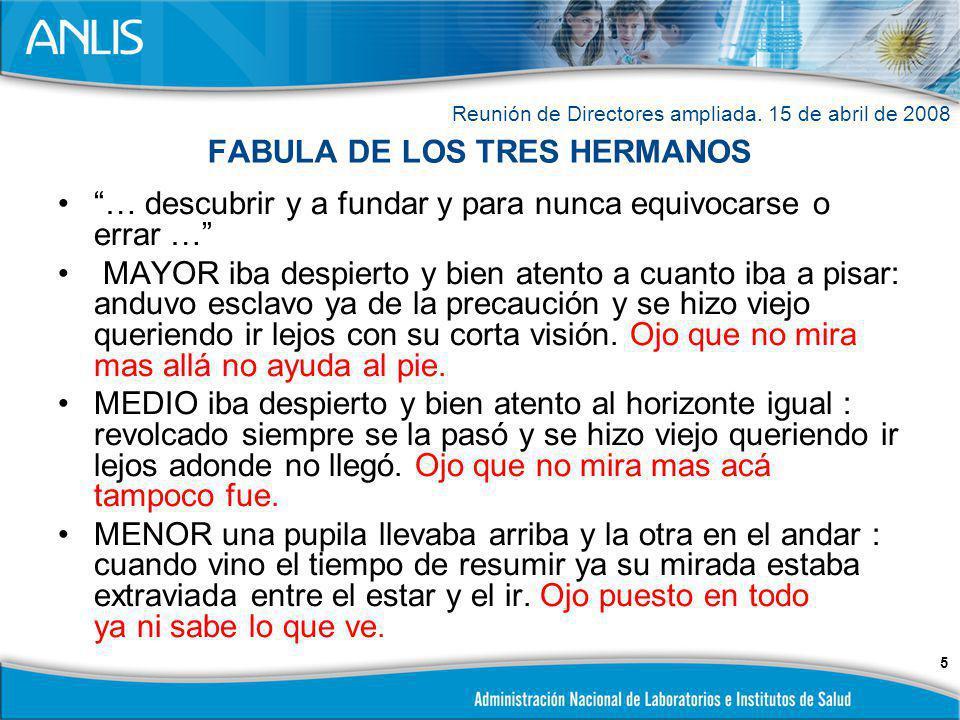 FABULA DE LOS TRES HERMANOS